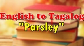 "TRANSLATE ENGLISH TO TAGALOG – ""Parsley"""