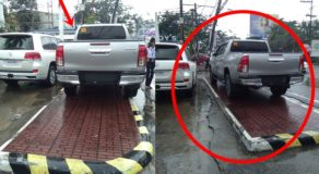Vehicle Driver Receives Massive Criticisms Online Over Illegal Parking