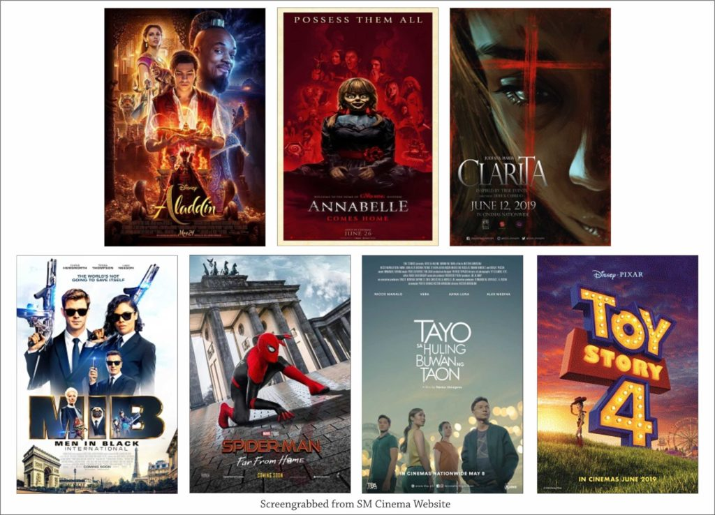 SM Cinema Showing Movies Today July 4, 2019