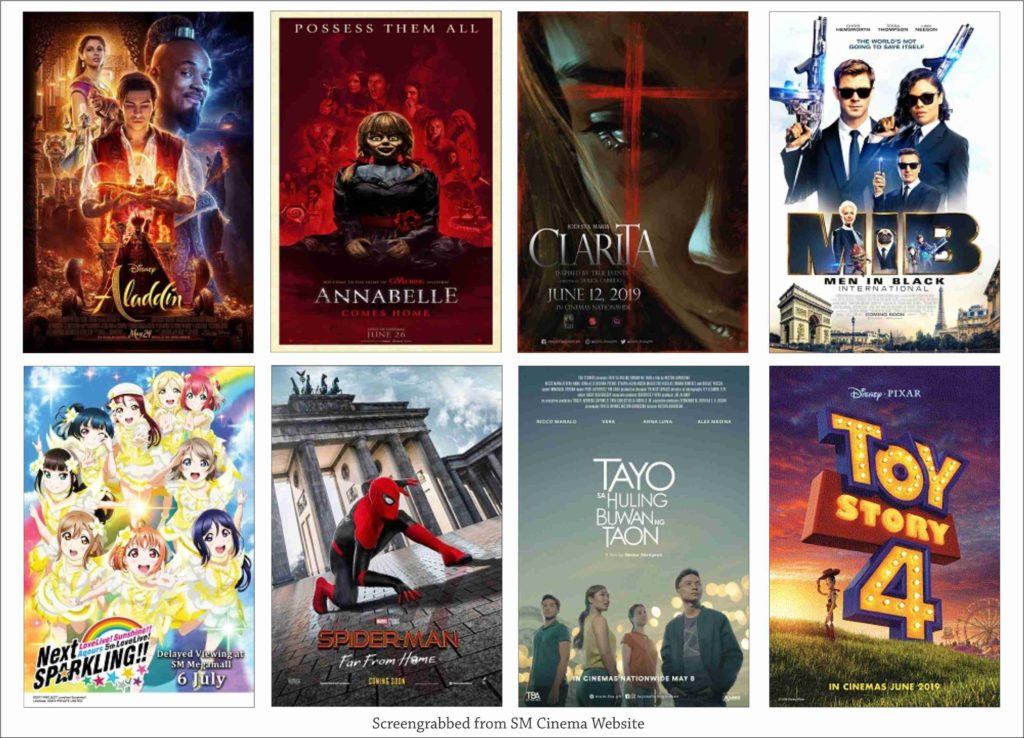 SM Cinema Showing Movies Today July 6, 2019