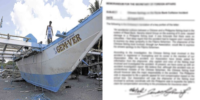 Chinese vessel owner - letter of apology 2