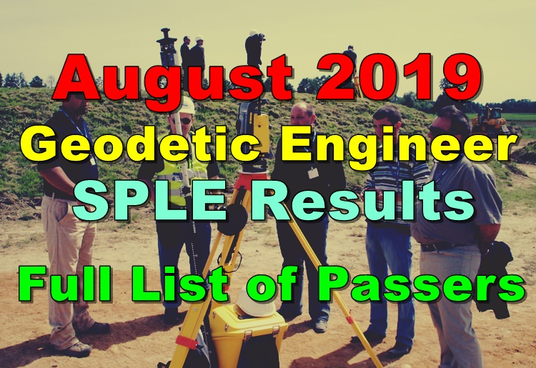 Geodetic Engineer Board Exam