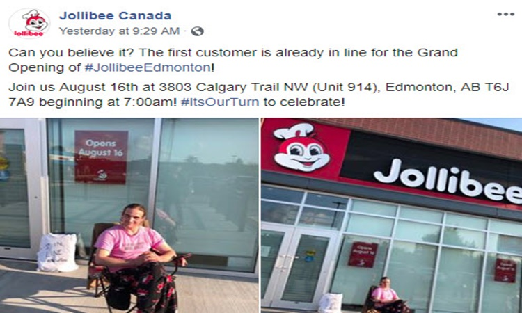 Jollibee-Canada-man-camp-outside