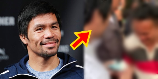 Manny Pacquiao gives away money