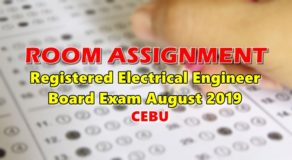 Room Assignment Electrical Engineer Board Exam August 2019 (Cebu)