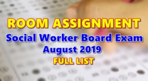Room Assignment Social Worker Board Exam August 2019 (Full-List)
