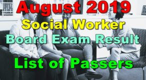 Social Worker Board Exam Result August 2019 – List of Passers