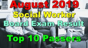 Social Worker Board Exam Result August 2019 – Top 10 Passers