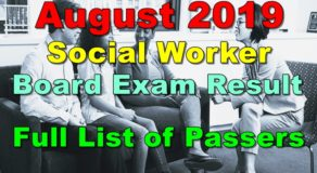 Social Worker Board Exam Result August 2019 – Full List of Passers