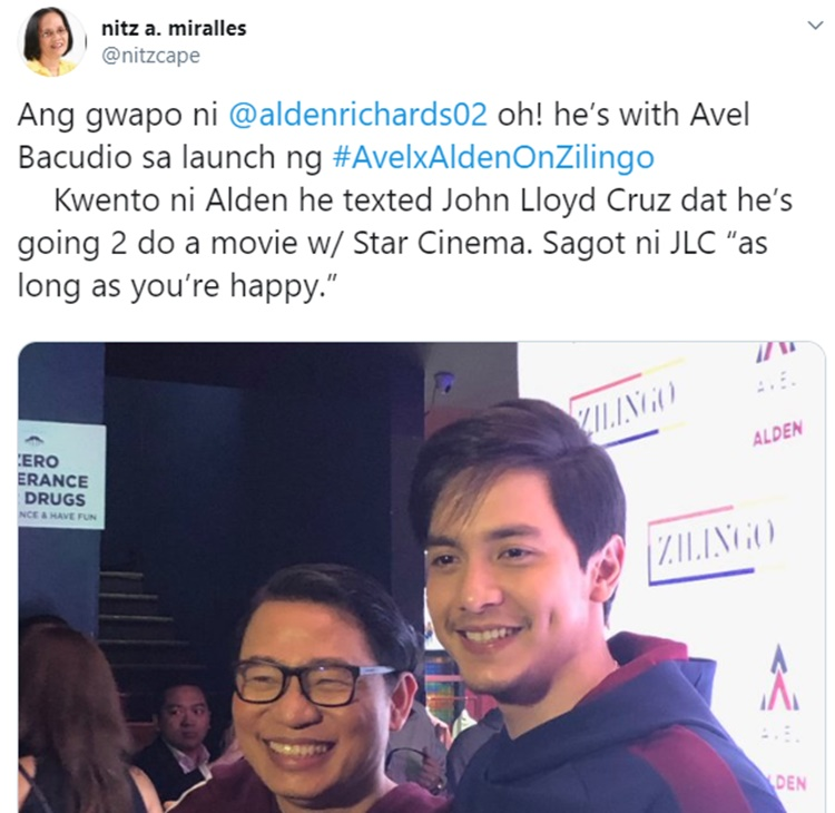 alden richards texted john lloyd cruz