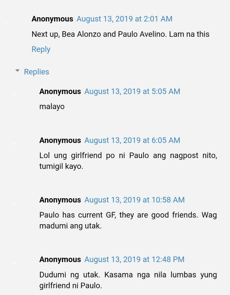 Bea alonzo paulo avelino photo comments