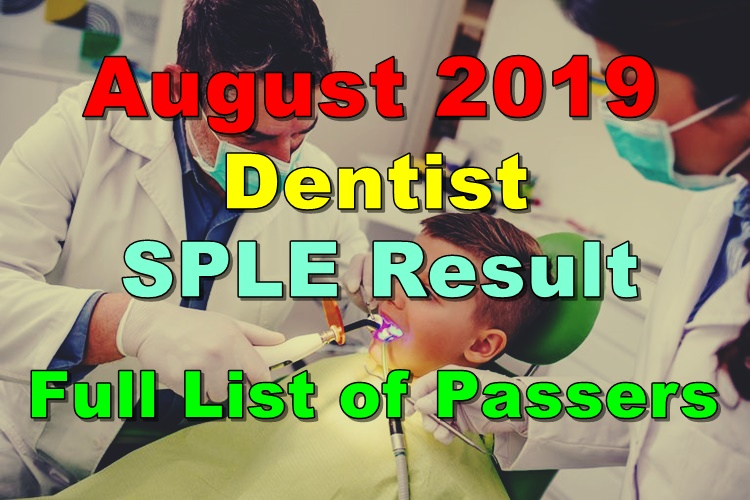 Dentist Board Exam Result