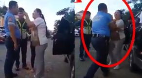 Scandalous Scene Between Raging Lady & Pinoy Cop Caught on Camera
