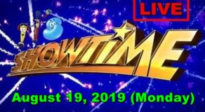 It's Showtime – August 19, 2019 Episode (LIVE STREAM)