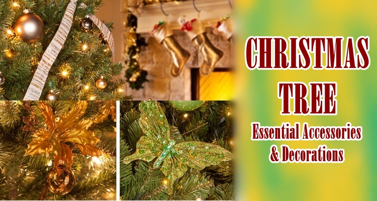Essential Christmas Decorations.Christmas Tree Essential Accessories Decorations