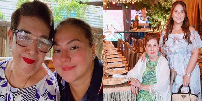 Karla Estrada and mom party