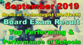 MedTech Board Exam Result September 2019 – Top Performing & Performance of Schools