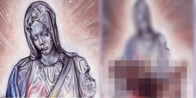Painting Virgin Mary 2