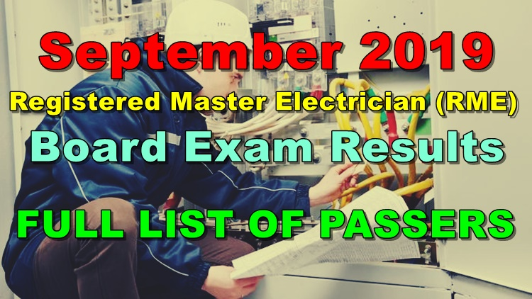 Registered Master Electrician Board Exam