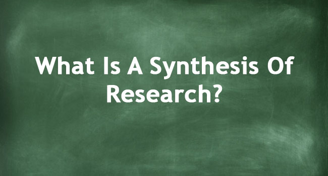 SYNTHESIS OF RESEARCH