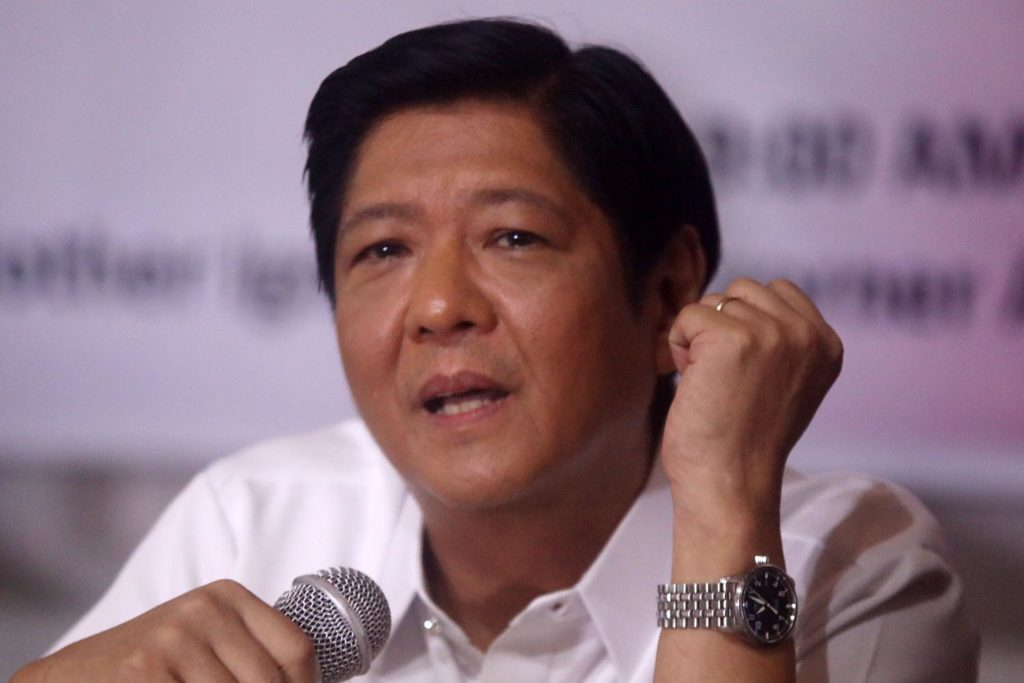 Bongbong Marcos To Run For National Post In 2022