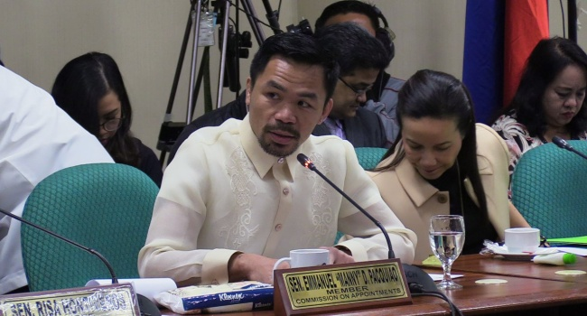 """Pacquiao Urges Faeldon To """"Do The Right Thing"""" & Take Leave"""