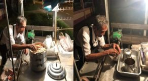 Heartbreaking Photos of Senior Citizen Selling At His Stall Past Midnight Goes Viral