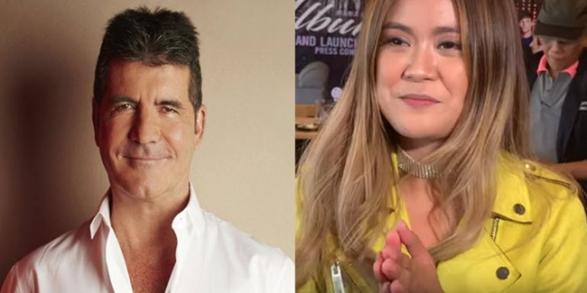 simon Cowell and Maria laroco