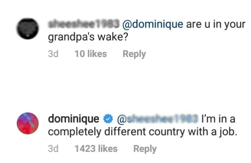 Dominique Cojuangco reply