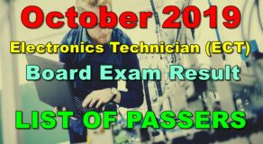 Electronics Technician Board Exam Result October 2019 – List of Passers