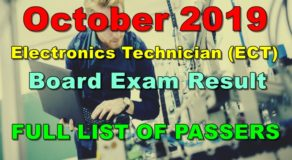 Electronics Technician Board Exam Result October 2019 – ECT (Full List)