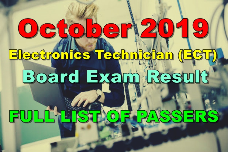 Electronics Technician Board Exam Result