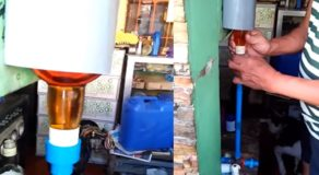 Witty Old Man Creates Improvised Dispenser For Alcoholic Beverages