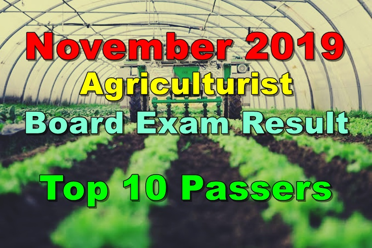 Agriculturist Board Exam Result