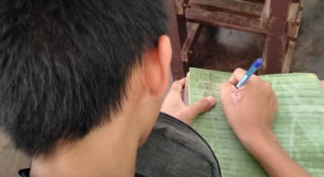 PHOTOS: Eighth-Grader Using Banana Leaf As Writing Medium Sparks Reaction
