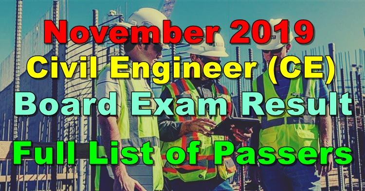 Civil Engineer Board Exam Result