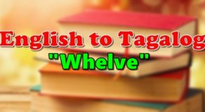 "TRANSLATE ENGLISH TO TAGALOG – ""Whelve"""