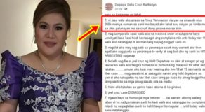 "Kathy Dupaya Breaks Silence On ""Arrest"" Issue Over Case Filed by Ynez Veneracion"
