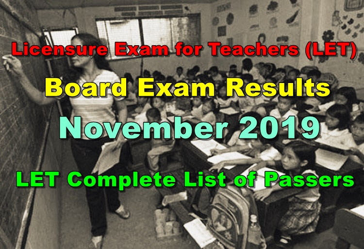 LET Board Exam Results