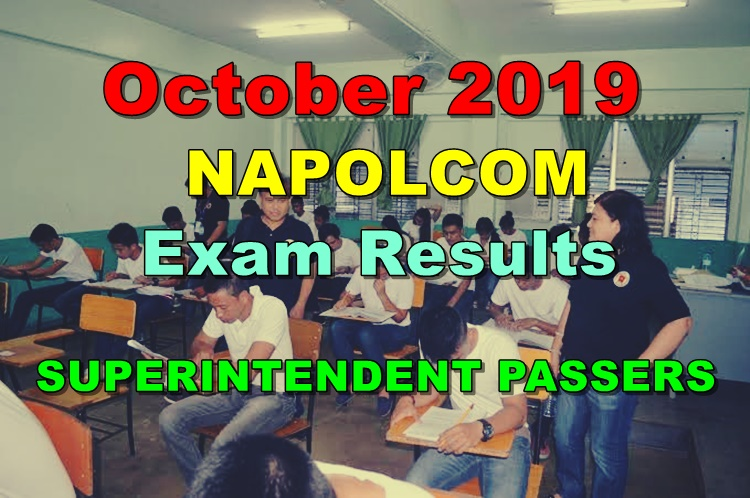NAPOLCOM Exam Results October 2019