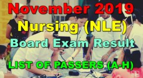 Nursing Board Exam Result November 2019 – LIST OF PASSERS (A-H)