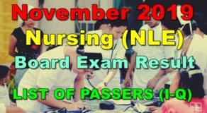 Nursing Board Exam Result November 2019 – LIST OF PASSERS (I-Q)