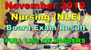 Nursing Board Exam Result November 2019 – FULL LIST OF PASSERS