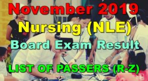 Nursing Board Exam Result November 2019 – LIST OF PASSERS (R-Z)