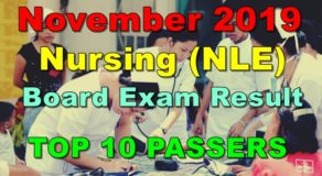 Nursing Board Exam Result November 2019 – Top 10 Passers