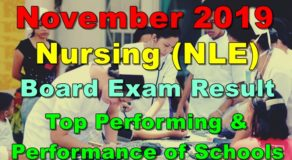 NLE Exam Result November 2019 – Top Performing & Performance of Schools