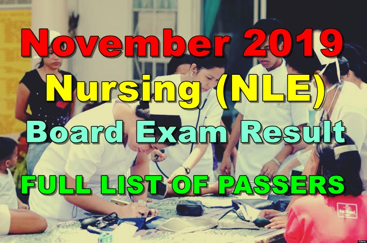Nursing Board Exam Result November 2019