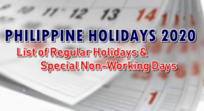 Philippine Holidays 2020: List of Regular, Special Non-Working Holidays in 2020