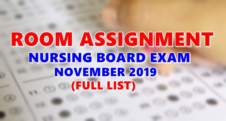 Room Assignment Nursing Board Exam November 2019 (Full-List)