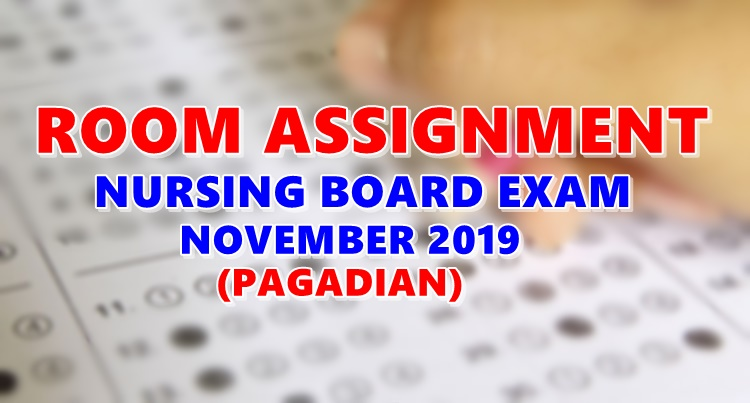 Room Assignment Nursing Board Exam November 2019 PAGADIAN